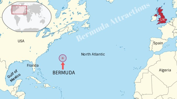 Location of Bermuda on Map