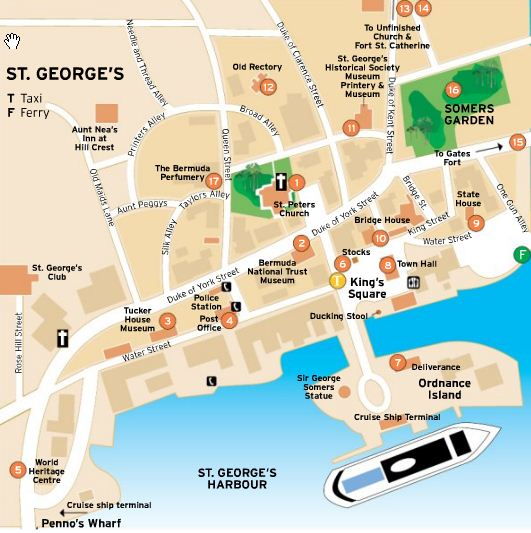 Map of St George Town Bermuda