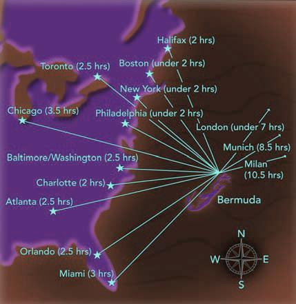 Where Is Bermuda Located - Map of us and bermuda