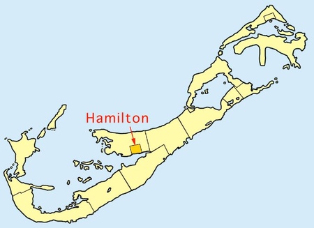 Location of Hamilton City