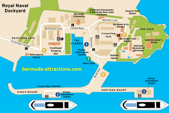 Map of Kings Wharf & Dockyard Bermuda