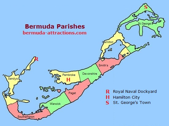 Bermuda Parish Map