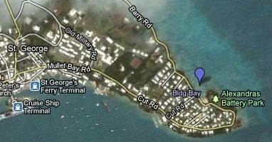 Building Bay Beach Is Located On Barry Road At The South Eastern End Of St George S Island There An Old Fort Battery Here And Just