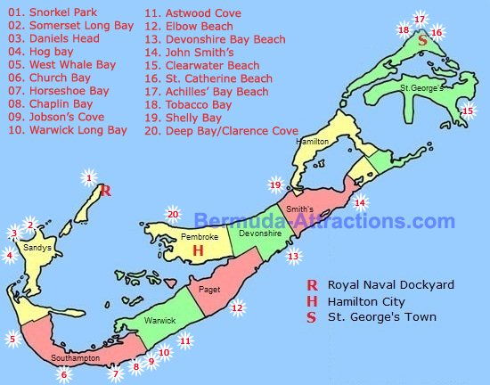 Bermuda Beach Map